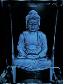 Laserblok Boeddha in meditatie