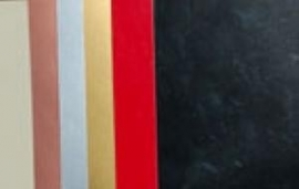 gekleurde schilderkaarten A4