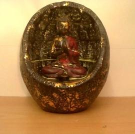 Boeddha in ei (rood-goud)