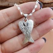 Crossed Angelwings pendant