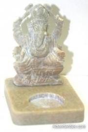 Theelicht Ganesha wit