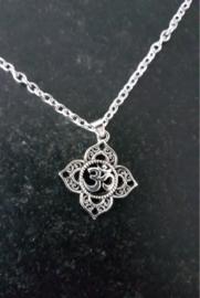 Filigree Ohm Lotus Silver Pendant.