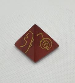 Spiritual Healing Pyramid Red Jaspis klein