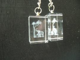 Sleutelhanger kristal Olifant