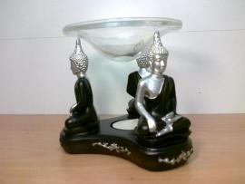 Thaise Boeddha zilver / zwart