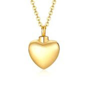 Heart Urn Necklaces, Gold plated.