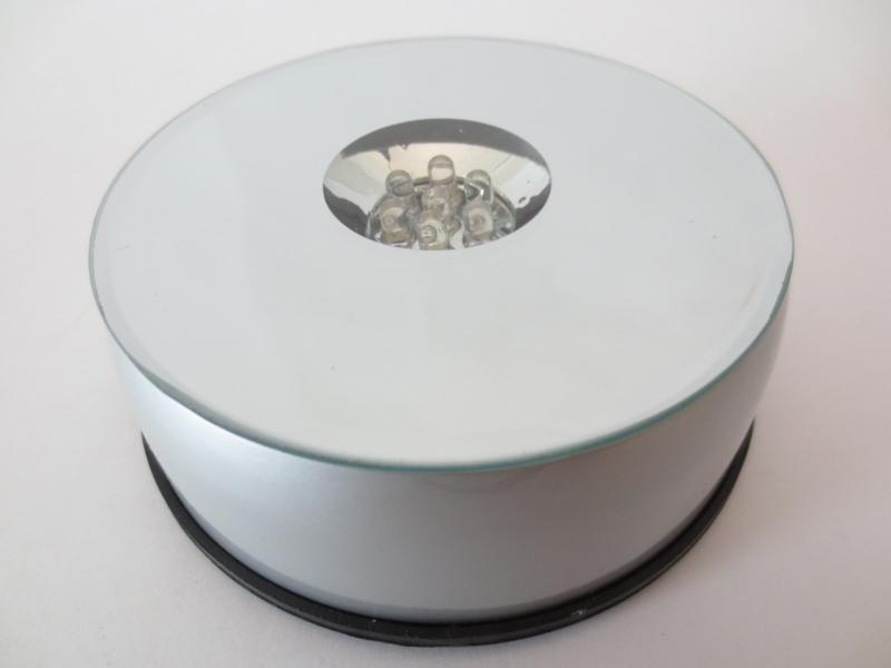"""Draaiplateau 12 Cm. met Led""""s kleur"""