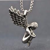 Angel Girl Titanium Pendant