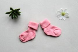 Licht roze sokken met naam 62/68