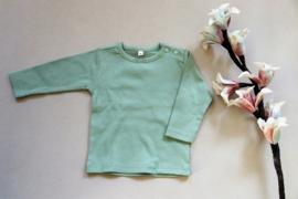 Baby shirt met tekst groen/ blauw maat 62