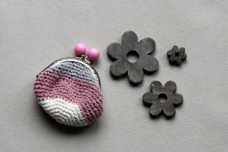 Portemonnee met naam zilver roze wit