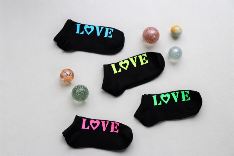 Sneaker sokken zwart 31-34