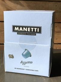 Manetti 'Azzurro' capsules (nespresso compatible)