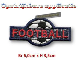 Voetbal applicatie opstrijkbaar.