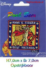 Pooh & Tijgertje best friends7x7cm applicatie