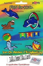 Patches dolfijnen en zeehond
