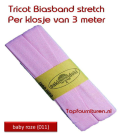 Tricot Biaisband Jersey baby roze