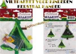Viltpakket voor kinderen Kerstboomhanger