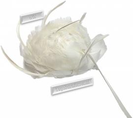 Veren corsage wit