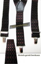 bretels bordeaux-zwart geruit 3 clips