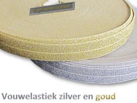 Vouwelastiek - afzetbies goud en zilver