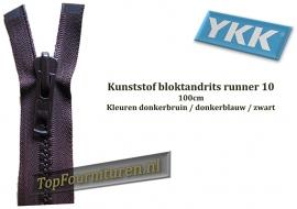 Bloktandritsen runner 10VS (robuste rits) 100cm
