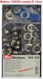 Grootverpakking nestels Ø 14mm zilver PRYM 542426