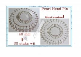 Pearl Headpins wit