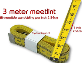 Coupeuse/kleermaker meetlint 3 meter