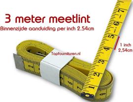 Coupeuse/kleermaker meetlint 3 meter