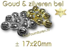 Belletjes zilver & goud Ø 20mm (staffelkorting)