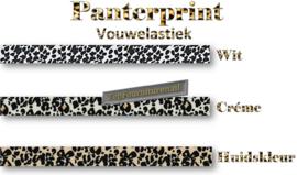 Vouwelastiek - afzetbies panterprints per 5 meter