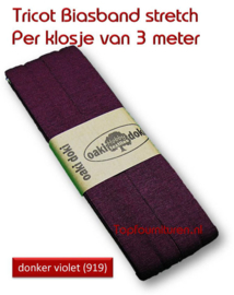 Tricot Biaisband Jersey donker violet