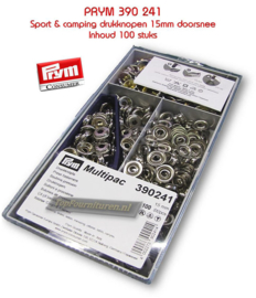 Multpac sport & camping 15mm zilveren drukknopen Prym 390241