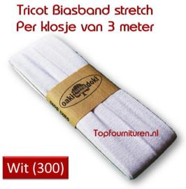Tricot Biaisband Jersey wit