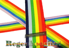 Regenbooglint Ribbon 15 / 25 /30 / 40mm breed