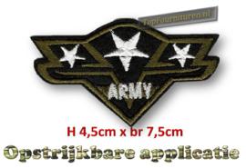 Applicatie Army met zilveren of gouden sterren