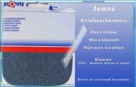 Kniebeschermers Jeans kleuren licht / mediumblauw & zwart