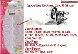 Spoeltjes Brother, Elna en Singer