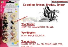 Spoeltjes (metaal) Artisan, Brother, Singer.