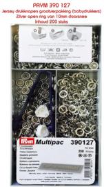 Multipac 390127 Jersey drukknopen (babydrukkers) zilver 10 mm
