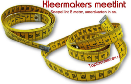 Coupeuse meetlint 2 meter kleermakerskwaliteit