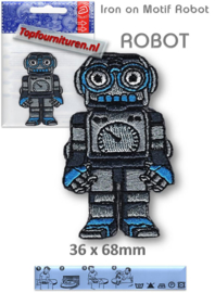Iron on Motif Robot - ROBOT