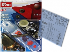 15mm Prym 390309 Anorak drukknopen met pons oud koper
