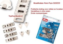 Prym 265233 4mm verstelbare rok & broekhaken zilverkleurig