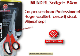 Mundial coupeuseschaar softgrip Cushion 24cm