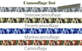 Ribbon lint Camouflage 1,6cm en 2.5cm