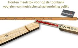 Meetlat voor toonbank geijkt 50 & 100cm