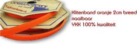 Klittenband YKK oranje 2cm breed naaibaar