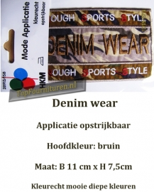 Applicatie Denim Wear legerkleuren
